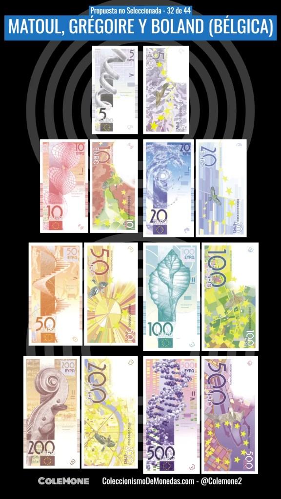 Diseño Perdedor Billete Euro 32 Matoul