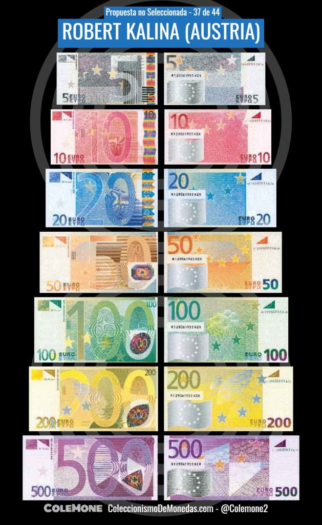 Diseño Perdedor Billete Euro 37 Kalina