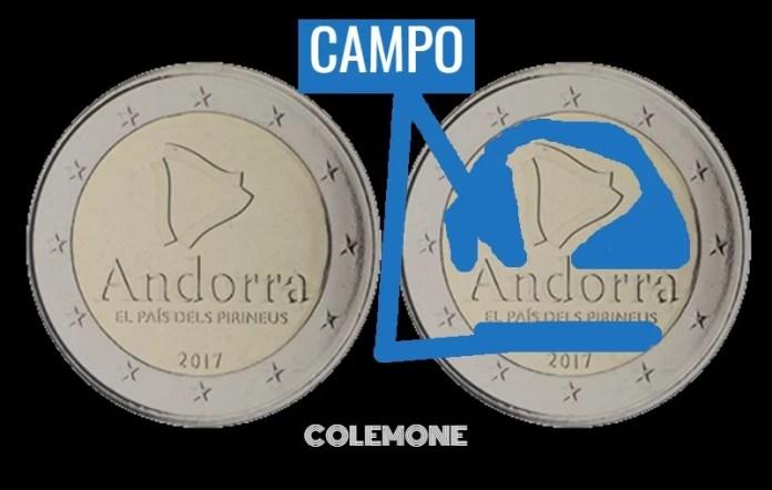Campo Andorra 2017 2 euros