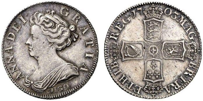 1 Shilling 1703 Vigo