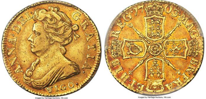 Half Guinea 1703 Vigo