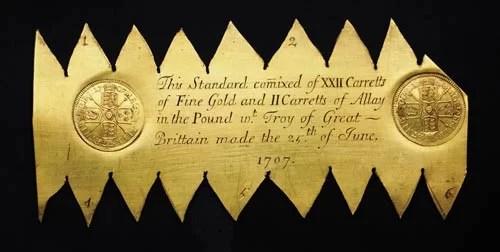 Placa de Metal Trial of the Pyx 1707