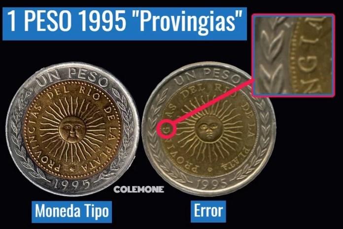 1 Peso 1995 Falla Provingias