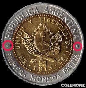 Marca de Ceca 1 Peso 1995