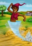 Saci Taterê - Saci brincalhão, cara de menino e cor de formiga. Anda sempre de camisa.