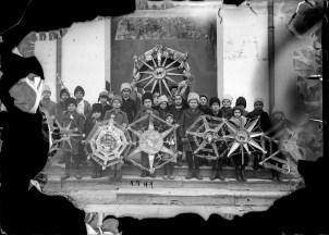 Grup de colindători cu steaua 1941
