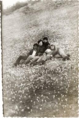 Grup cu brîndușe Costică Acsinte din casele noastre Arhiva personală Axinte Constantin, Perieți