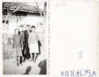 Două cupluri. 1971. Annalysa Costică Acsinte din casele noastre Arhiva personală Maura Aron, Grivița