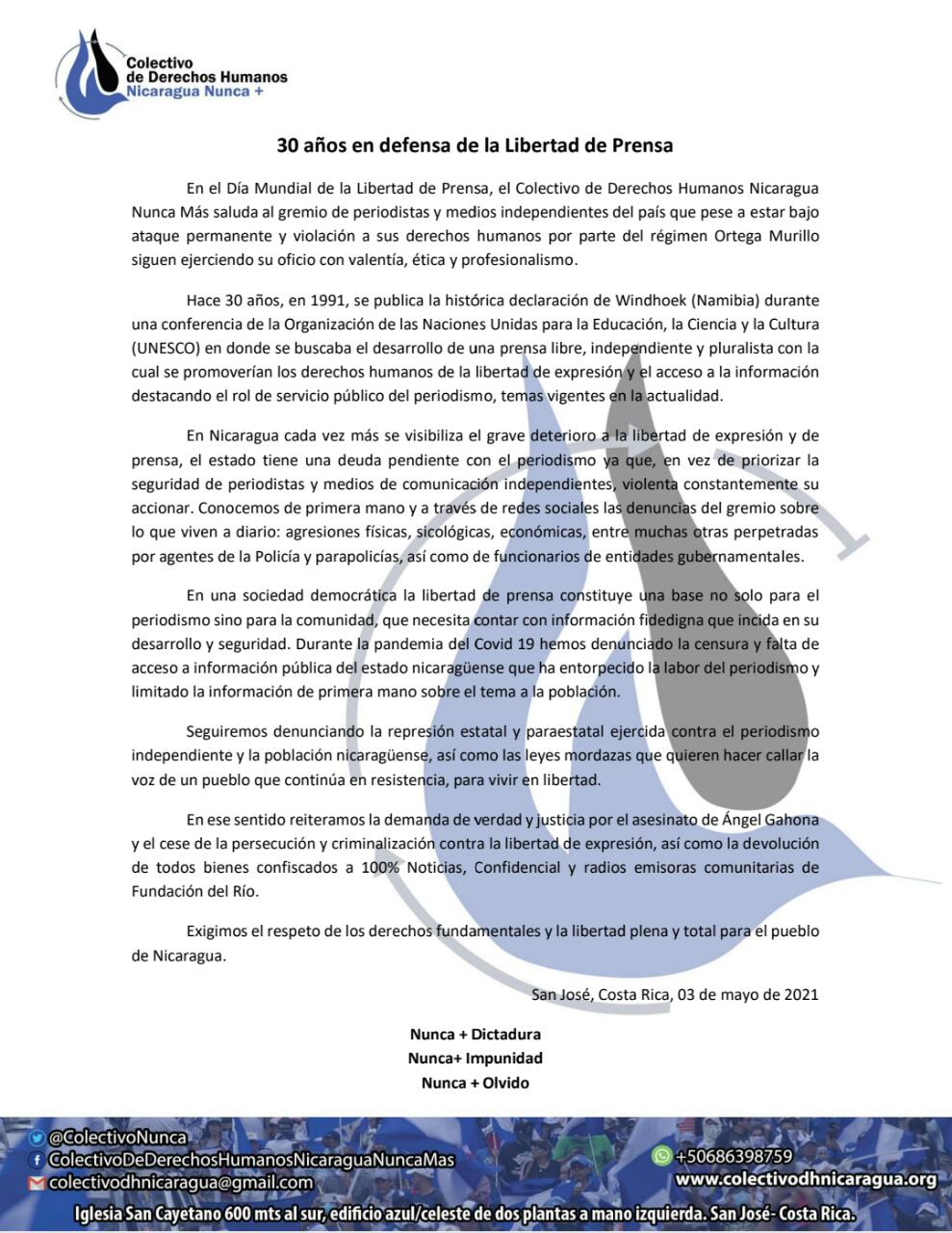 030521 Dia Mundial de la Libertad de Prensa