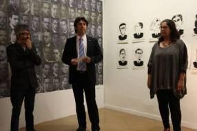 Oscar Abril, Quim Carné y Engracia Torrella (Promotor cultural, Regidor de Cultura del Ayuntamiento de Sabadell y Directora del Museo de Arte de Sabadell)