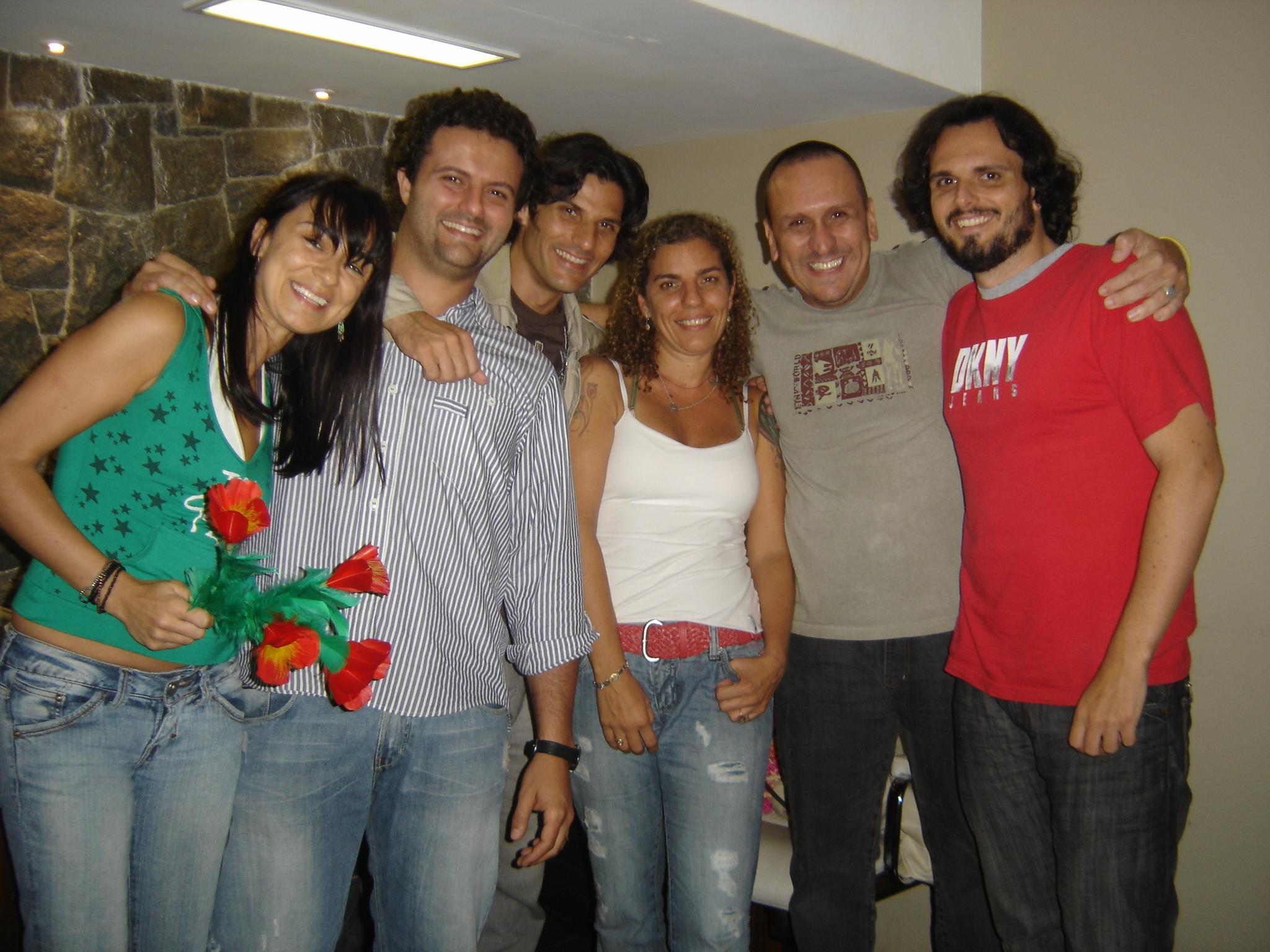 Aleksandra, Galvão, Felipe, Andréa, Maurão e Rodrigo