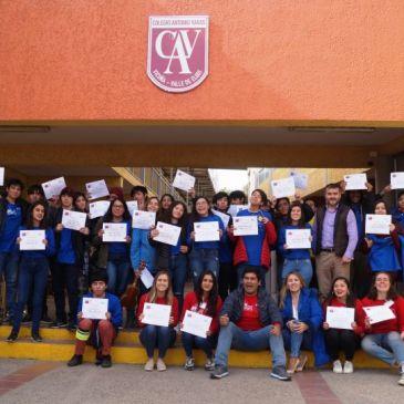 Alumnos del Colegio Antonio Varas participan en Winter Camps