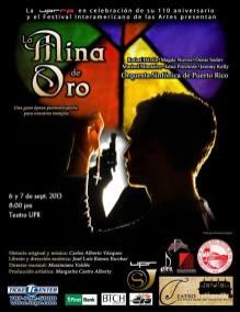Ópera La Mina de Oro, cartel 2