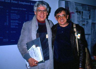 alcides lanza y Sergio Barroso, en Banff, ca. 1985 [Foto: alcides lanza]