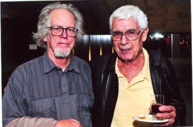 alcides lanza y su gran amigo y colega el compositor Bruce Mather cuando alcides festejó sus 80 años [Foto: Sean Ferguson]