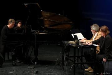 Para piano, Kaos Pad y Computadora. Jerzy y Martha Kornowick y Boris Alvarado