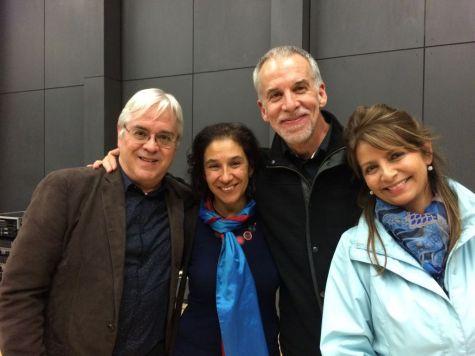 Andrés Posada, Leonor Convers, Guillermo Gaviria y María Olga Piñeros. Facultad de Artes, Pontificia Universidad Javeriana, Bogotá. 2015