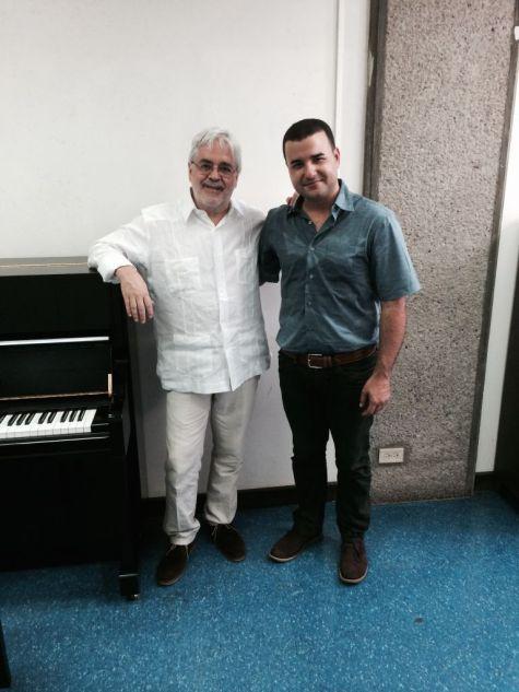 Andrés Posada y Leonardo Gell, XIII Seminario de Composición. 17 al 24 de julio de 2014. Universidad de Costa Rica