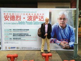 Andrés Posaday afiche, Conservatorio de Música de Shanghái