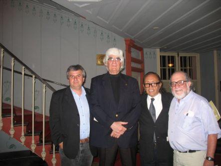 Boris Alvarado (Chile), Marlos Nobre (Brasil), Edgar Valcarcel (Perú) y Leon Beriotti (Uruguay) Recife, Brasil