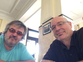Con el compositor Orlando Jacinto García de Cuba-EE.UU