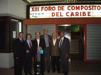 Rugeles, De Elías, Pelegrini, Vázquez, Posada, Cordero. XIII Foro de Compositores del Caribe, Panamá, 2003