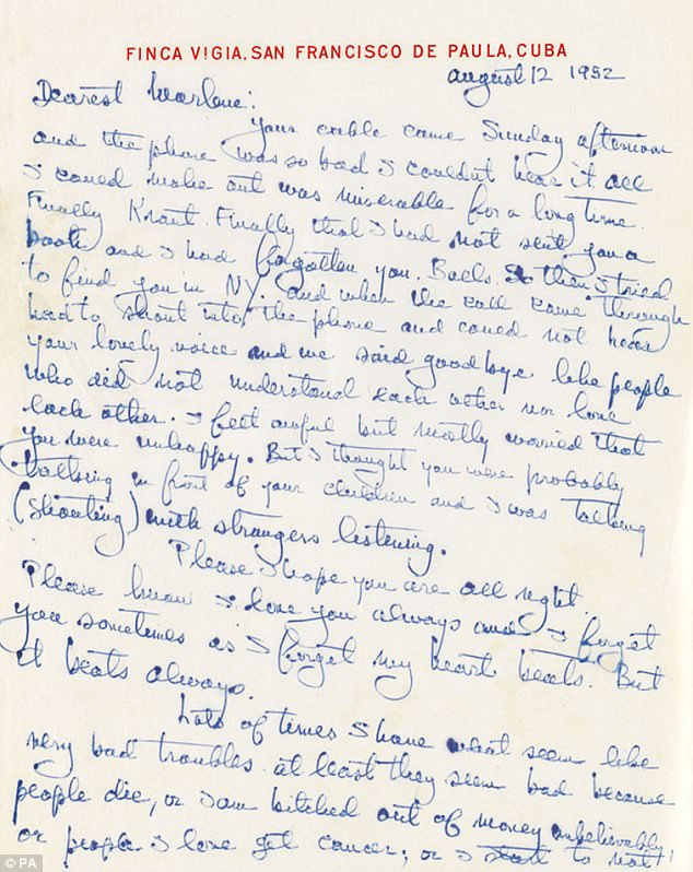 3F4B44AB00000578 0 In the letter Hemingway writes I always love you and admire you a 96 1492385135850
