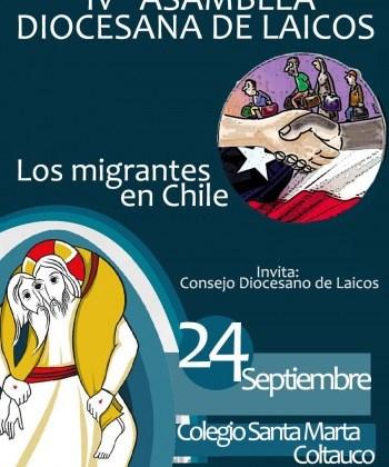 El próximo 24 de septiembre se realizará IV Asamblea Diocesana de Laicos