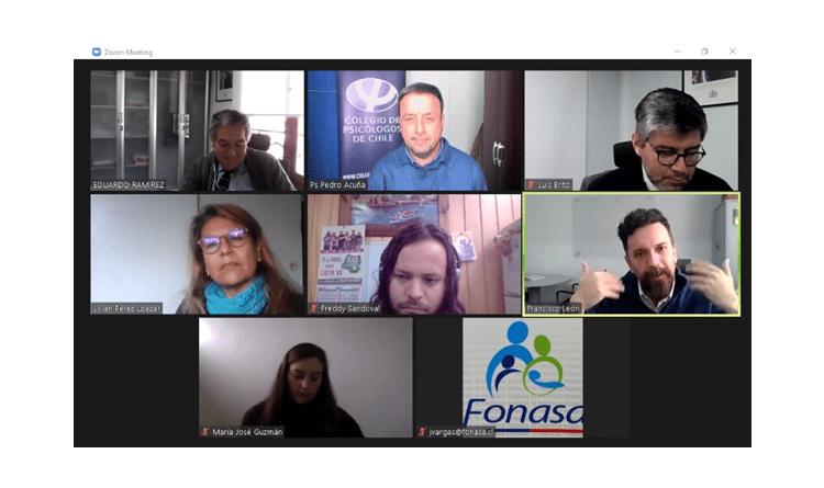 Colegio de Psicólogos se reúne con autoridades de FONASA