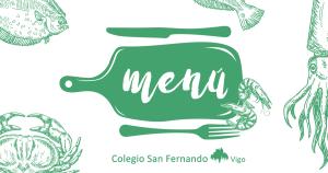 menu comedor escolar colegio San Fernando Vigo