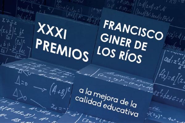 PREMIO FRANCISCO GINER DE LOS RÍOS PARA UNO DE NUESTROS PROFESORES