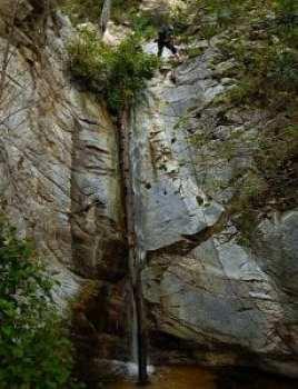 Jenn dropping Little Santa Anita Canyon