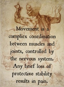 Disordered movement can cause spine pain