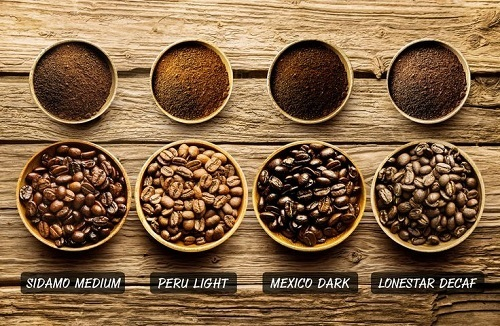 Different Coffee Grinds