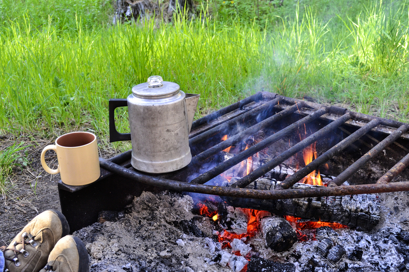 Coffee Should Percolate Near the Flames for Five to Ten Minutes