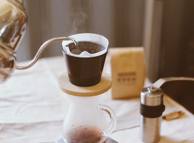 Pourover Coffee Prepared with Coffee Kettle
