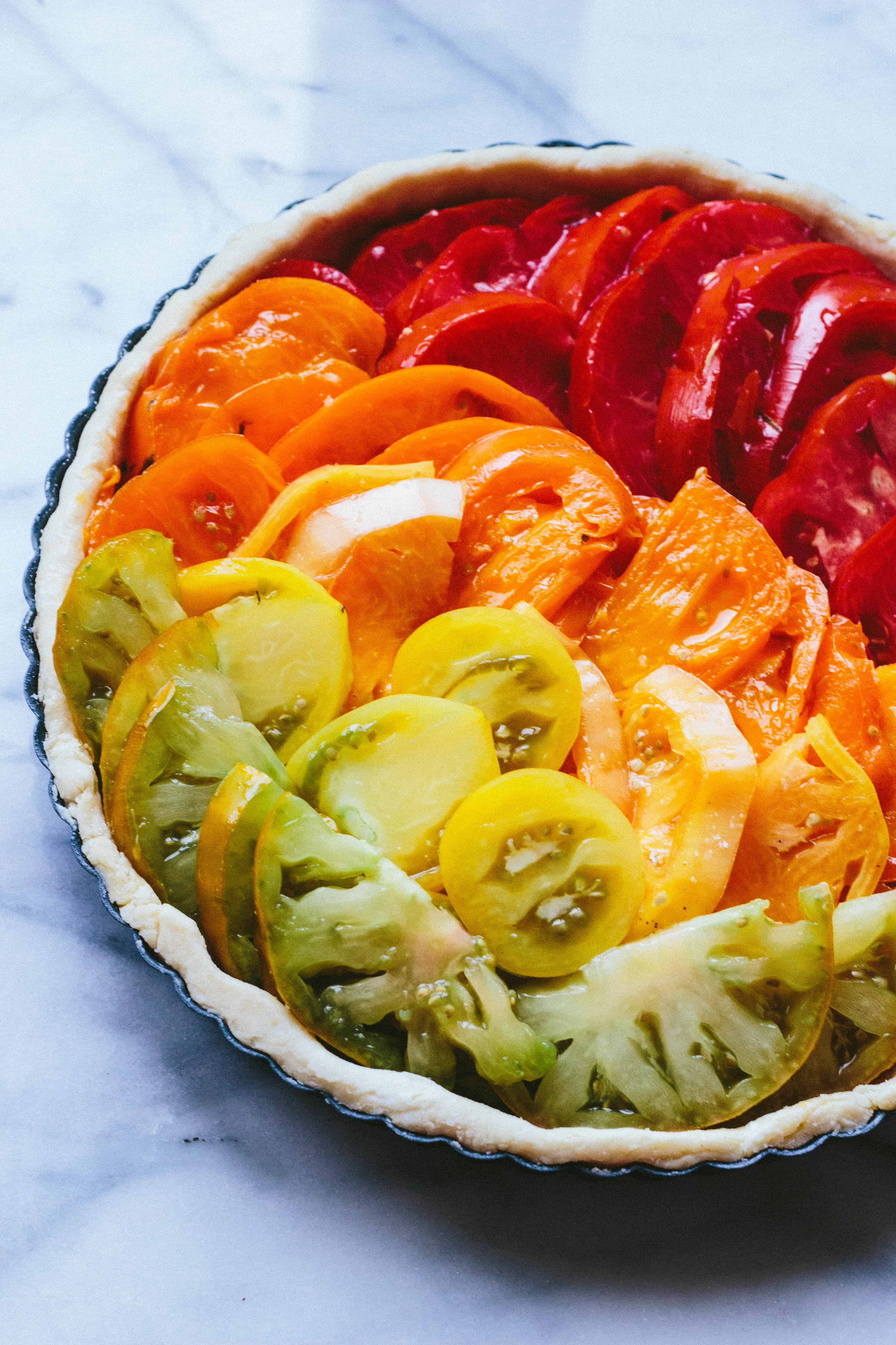 FRENCH TOMATO + GOAT CHEESE TART   The best recipe for French tomato + goat cheese tart. Easy and insanely delicious! #easy #heirloom #tomato #recipe #summer #French   ColeyCooks.com