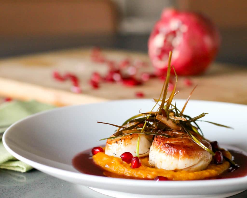 Scallops with Pomegranate Beurre Blanc