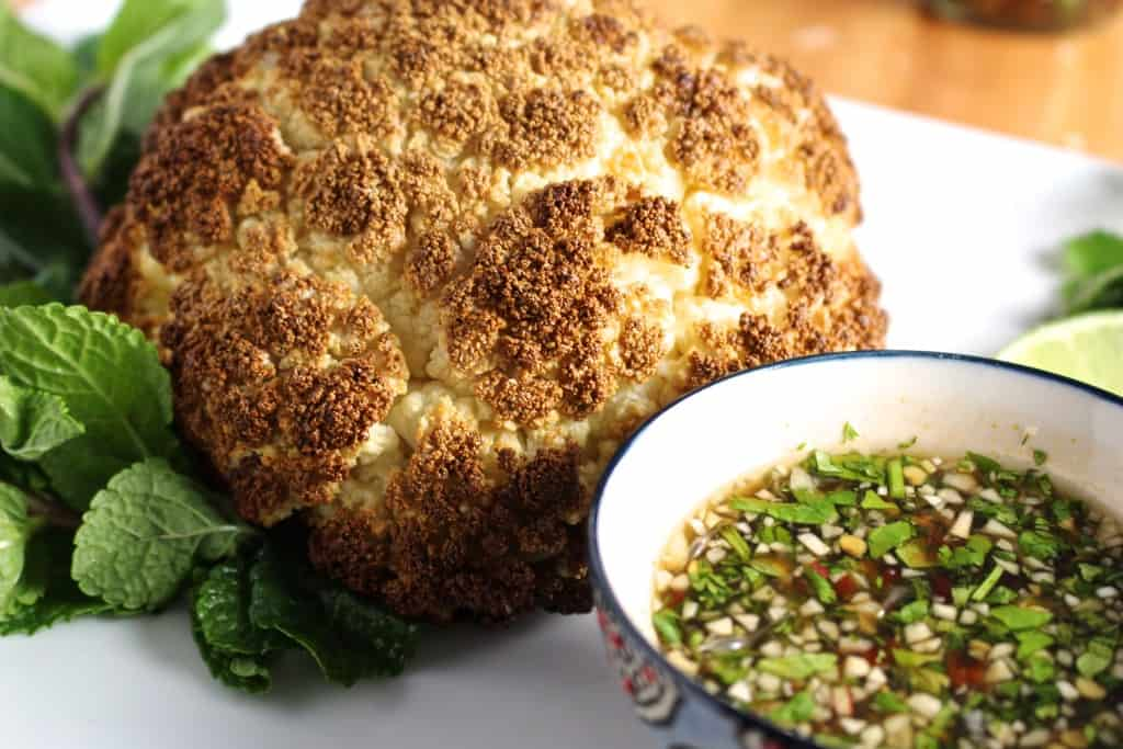 Whole roasted cauliflower with fish sauce vinaigrette for Whole foods fish sauce