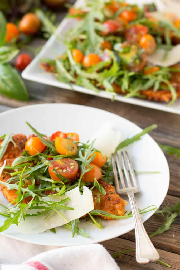 Chicken Milanese - light, crunchy and full of flavor!