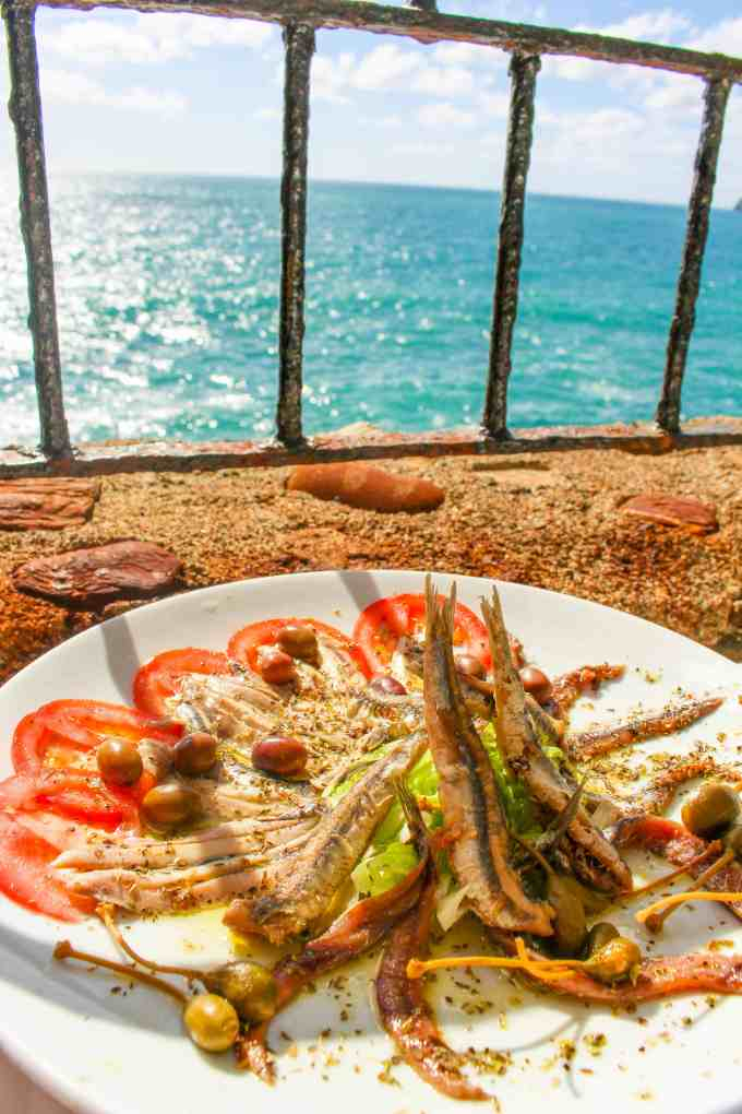 Mixed Anchovies in Vernazza, Cinque Terre, Italy