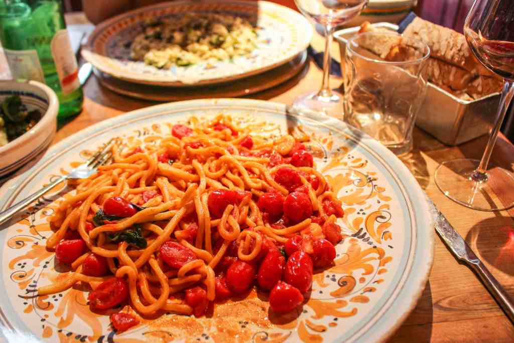 Pasta in Florence, Italy