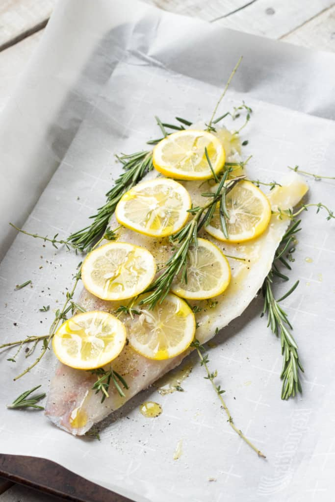Herb Roasted Barramundi with Meyer Lemon Vinaigrette