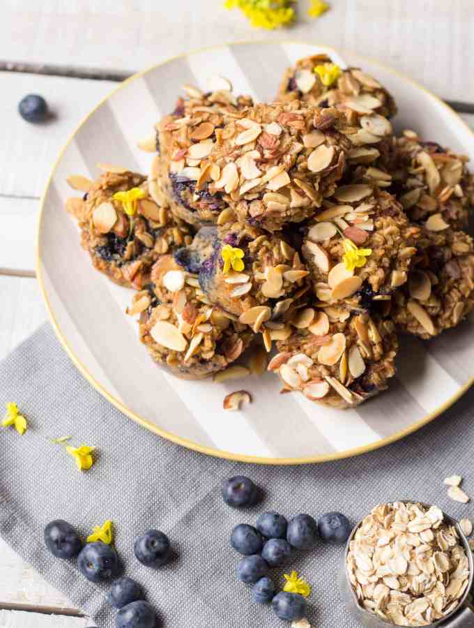 Blueberry Almond Baked Oatmeal Cups with Dream Ultimate Almond