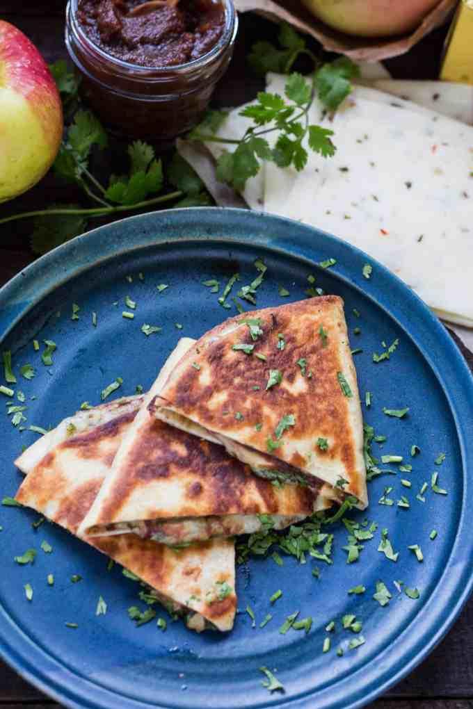 Apple Butter Quesadillas (Video!) | ColeyCooks.com