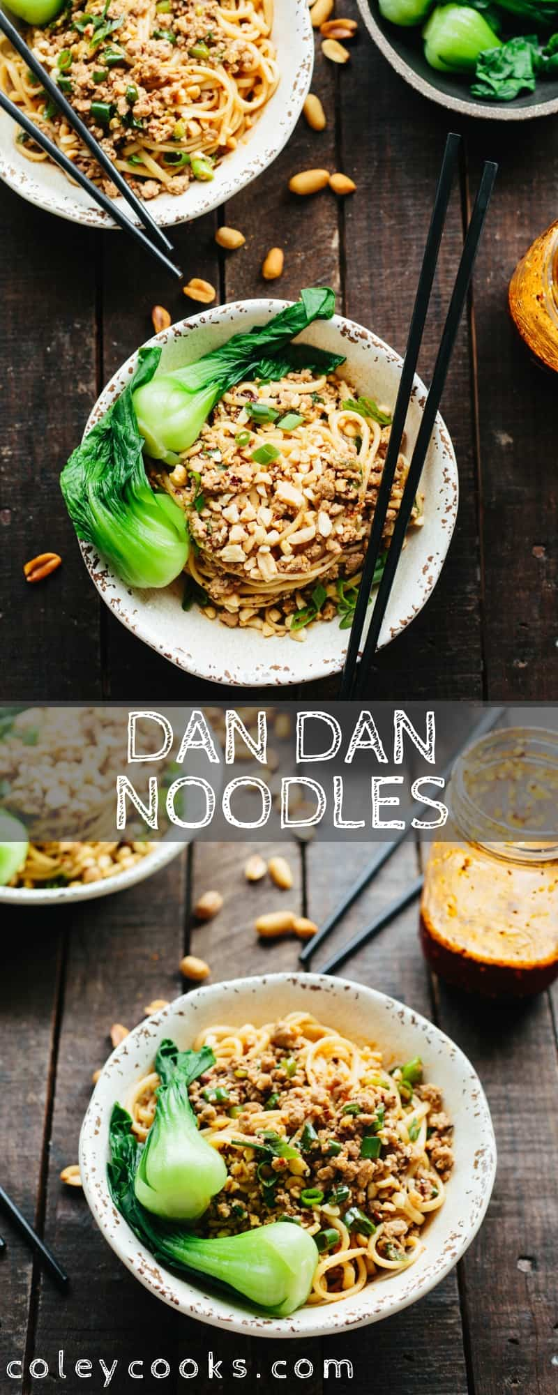 Dan Dan Noodles are a classic Sichuan street food made with ground pork and spicy chili oil. These noodles have the perfect balance of flavors and textures! #dandan #noodles #Chinese #sichuan #easy #recipe #spicy #pork | coleycooks.com