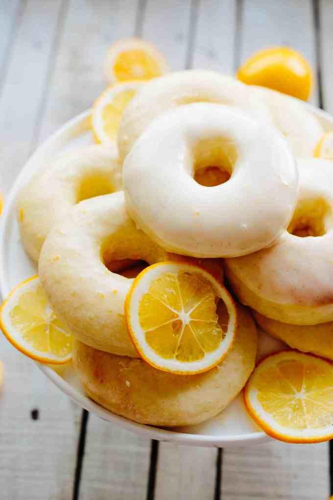 Meyer Lemon Baked Doughnuts: Yeast-Risen BAKED Doughnuts with a tangy Meyer Lemon Glaze | Coley Cooks!