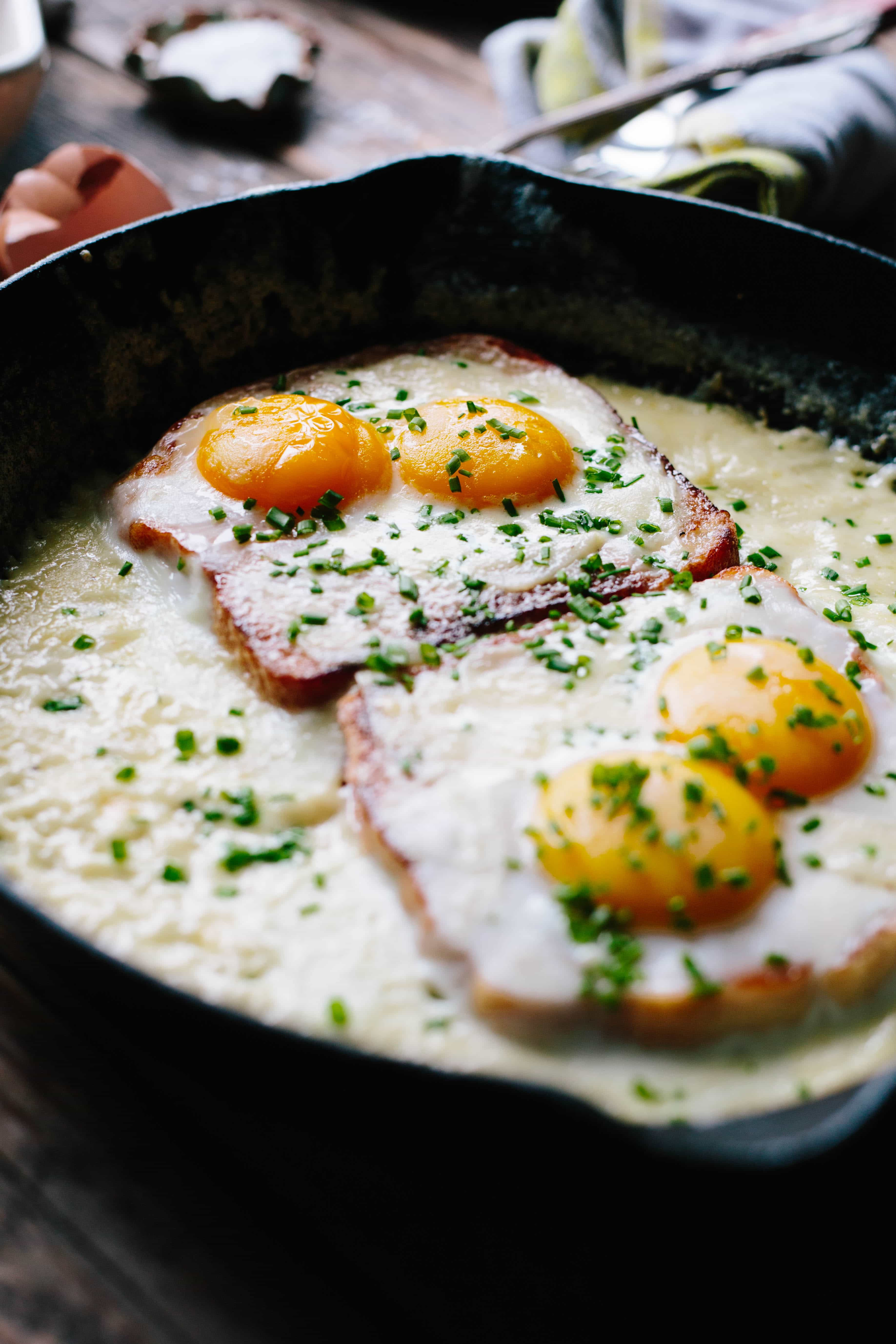 French Baked Toast with Cream and Eggs   Easy + Impressive French Breakfast   ColeyCooks.com