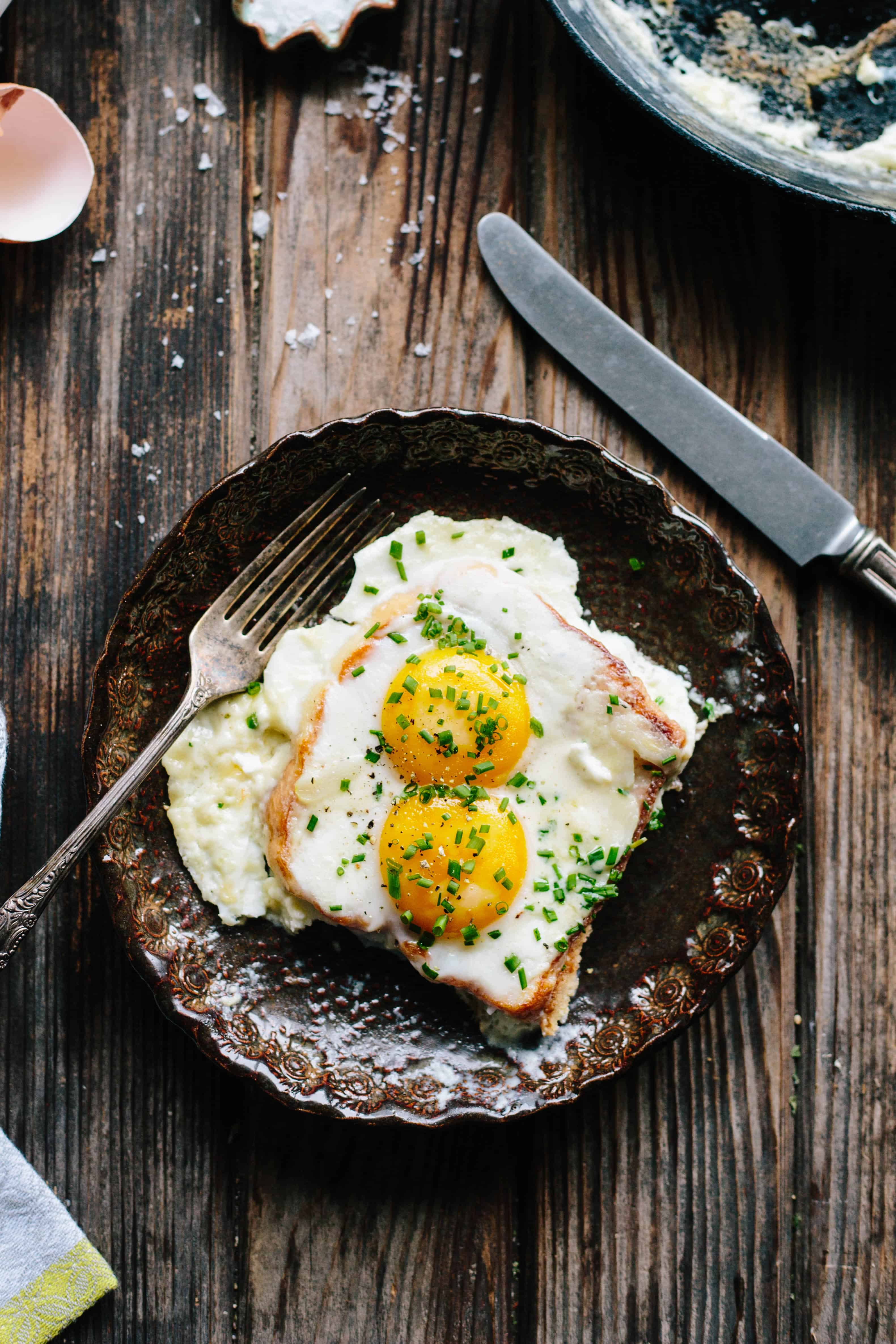 French Baked Toast with Cream and Eggs | Easy + Impressive French Breakfast | ColeyCooks.com