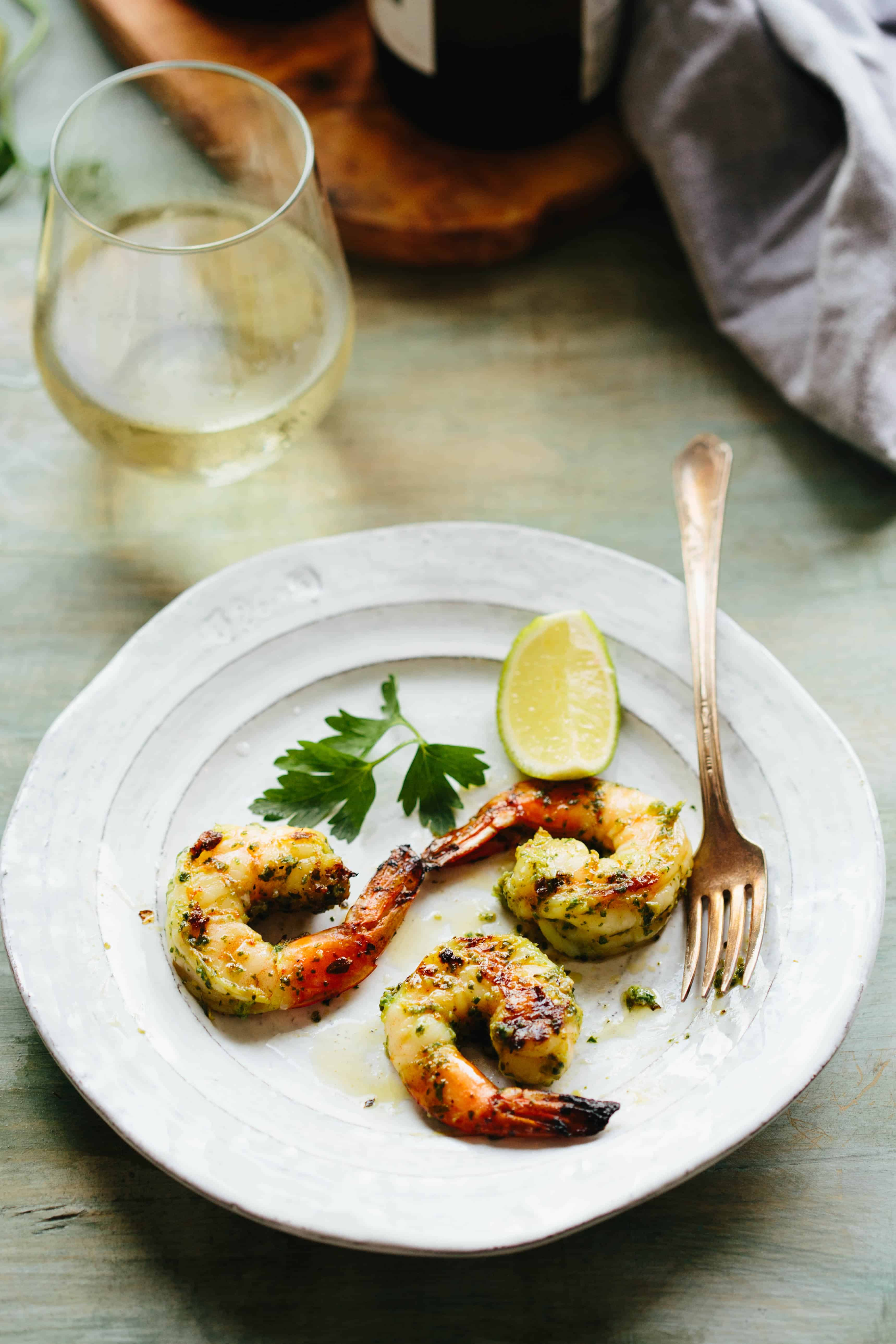 Citrus Herb Grilled Shrimp | This quick and easy recipe for Citrus Herb Grilled Shrimp is an insanely delicious flavor-packed summer meal. | ColeyCooks.com